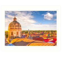 Over The Rooftops of Granada, Nicaragua Art Print