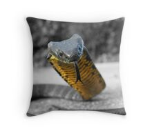 Select colouring2 Black and Yellow Tiger snake Throw Pillow