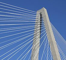 Ravenel Bridge Abstract by Darlene Lankford Honeycutt
