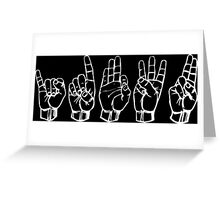 IDFWU Sign Language Greeting Card