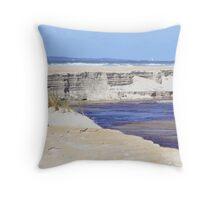 mouth of Henty River, Ocean Beach, Tasmania  Throw Pillow