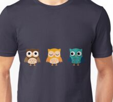 Cute Owls Chibi Unisex T-Shirt
