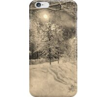 Wonderful winter night in Russia, vintage style iPhone Case/Skin