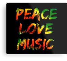 Peace Love Music Metal Print