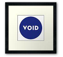 VOID - Parody Framed Print