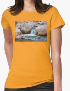 Rocky Mountain Canyon Waterfall Womens Fitted T-Shirt