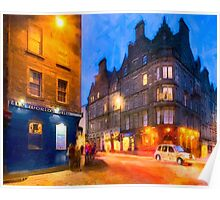 Standing At The World's End In Edinburgh Poster