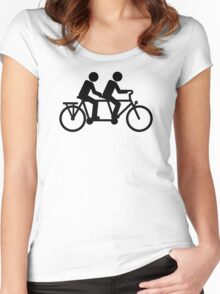 Tandem bike Women's Fitted Scoop T-Shirt