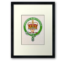 Scottish Crest of Clan Robertson Framed Print