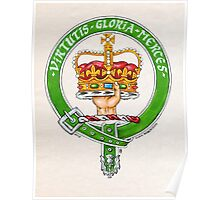 Scottish Crest of Clan Robertson Poster