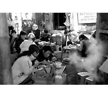 Street Barbeque in Hanoi Old Quarter Photographic Print