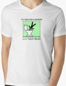 no.15 TOILET BRUSH Mens V-Neck T-Shirt