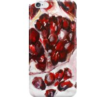 Pomegranate acrylics 11 inch x 14 inch canvas board iPhone Case/Skin