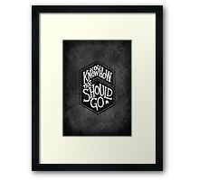 Drake - You Know How That Should Go Framed Print