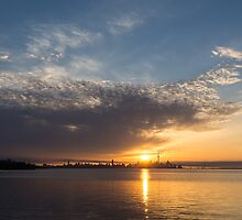 Brilliant Toronto Skyline Sunrise Over Lake Ontario by Georgia Mizuleva
