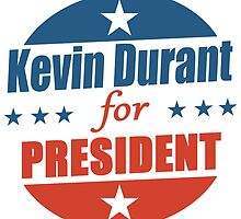 kevin durant for president by teeshoppy