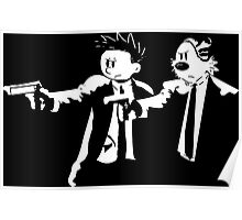 Calvin and Hobbes Pulp Fiction Poster