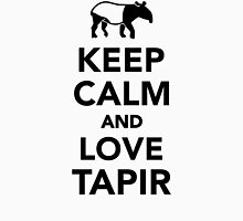 Keep calm and love tapir Womens Fitted T-Shirt