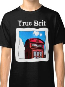 True Brit - Red British Phone Box T-Shirt - For Dark Colors Classic T-Shirt