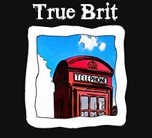 True Brit - Red British Phone Box T-Shirt - For Dark Colors Unisex T-Shirt