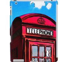British Icon - Red Telephone Box iPad Case/Skin