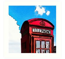 British Icon - Red Telephone Box Art Print