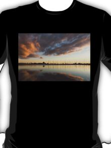 Boats and Clouds Summer Sunset T-Shirt