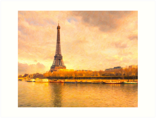 Paris in Pastel - The Eiffel Tower by Mark Tisdale