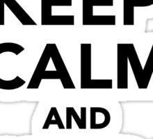 Keep calm and tattoo on Sticker