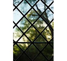 Medieval Window, Sunny Garden Outside Photographic Print