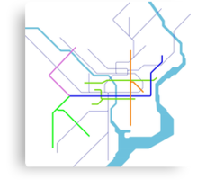 Subway Series- Philadelphia Canvas Print