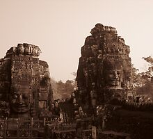 Early Morning at Bayon in the Angkor Wat Complex by MeBoRe