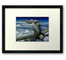 P51 Battles  FW190 Framed Print