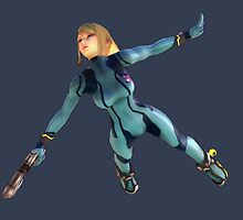 Zero Suit Samus flying by ciccioDeeamci