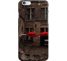 Red Umbrellas iPhone Case/Skin