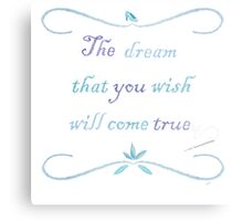 A Dream is a Wish Needlepoint Metal Print