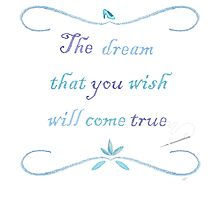 A Dream is a Wish Needlepoint Photographic Print