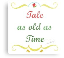 Tale as Old as Time Needlepoint Metal Print