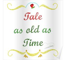 Tale as Old as Time Needlepoint Poster