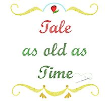 Tale as Old as Time Needlepoint Photographic Print