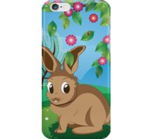 Brown Rabbit on Lawn iPhone Case/Skin