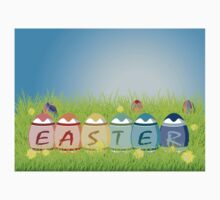 Colorful Easter Eggs One Piece - Short Sleeve