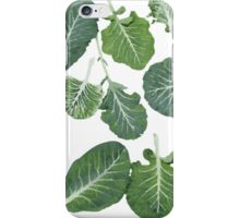 We're eating these wonderful collard greens... iPhone Case/Skin