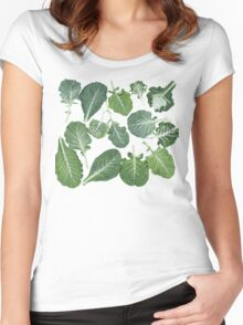We're eating these wonderful collard greens... Women's Fitted Scoop T-Shirt