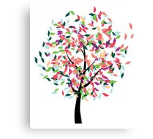 Colorful Tree 2 Canvas Print