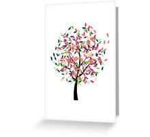 Colorful Tree 2 Greeting Card