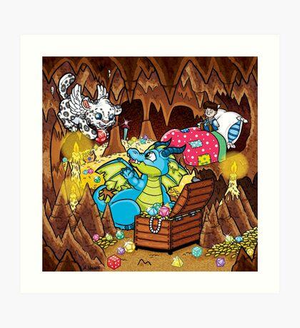 Wee Beasties - Wee Dragon Art Print