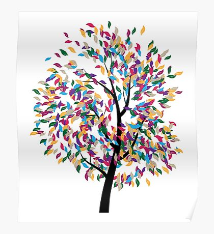 Colorful Tree 3 Poster