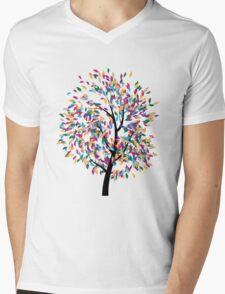 Colorful Tree 3 Mens V-Neck T-Shirt