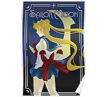 Art Deco style Sailor Moon Poster